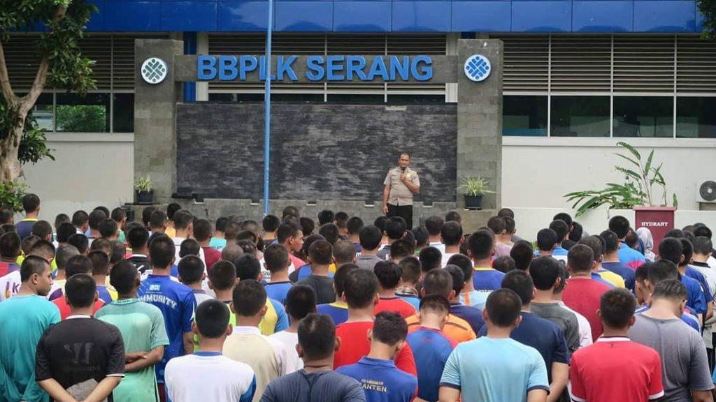 Kegiatan Fisik, Mental & Disiplin Pelatihan Berbasis Kompetensi (PBK) Gel. 1 BBPLK Serang 2019 Kemnaker